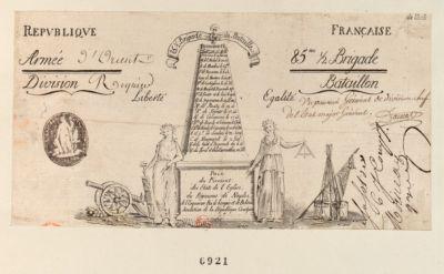 Republique française armée 85.me brigade [estampe]
