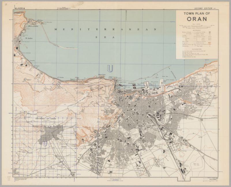 Town plan of Oran