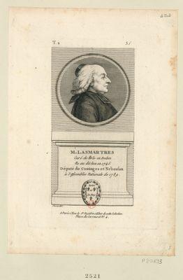 M. Lasmartres curé de Lisle en Dodon ne au dit lieu en 1745 député de Cominges et Neboufan à l'Assemblée nationale de 1789 : [estampe]