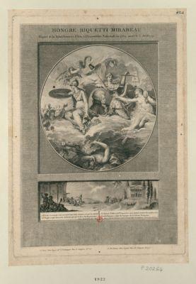 Honoré Riquetti Mirabeau deputé de la senechaussée d'Aix à l'Assemblée nationale en 1789, mort le 3 avril 1791. Allez dire à ceux qui vous envoyent... : [estampe]
