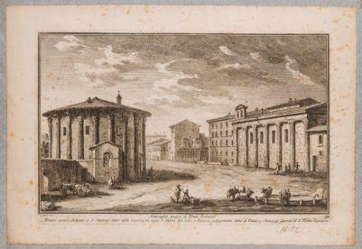 Foro Boario, veduta dei templi e delle fabbriche adiacenti
