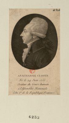 Anacharsis Cloots né le 24 juin 1755, orateur du genre humain à l'Assemblée nationale... : [estampe]