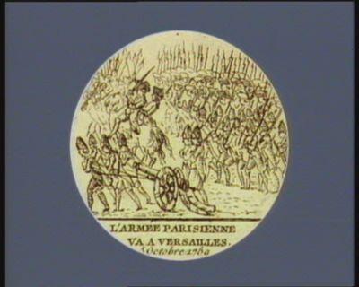 L' Armée parisienne va a <em>Versailles</em> <em>5</em> octobre <em>1789</em> : [estampe]