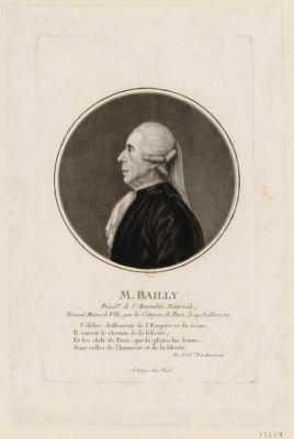 M. Bailly présid.t de l'Assemblée nationale, nommé maire de ville par les citoyens de Paris, le 14 juillet 1789... : [estampe]