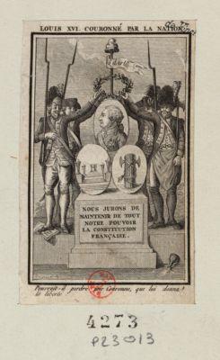 <em>Louis</em> <em>XVI</em> couronné par la nation pourrait-il perdre une couronne, que lui donna la liberté ! : [estampe]