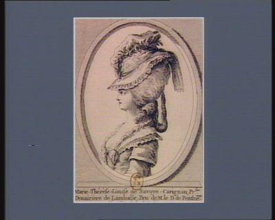 Marie-Thérèse-Louise de Savoye-Carignan, pr. sse douairiere de Lamballe [estampe]