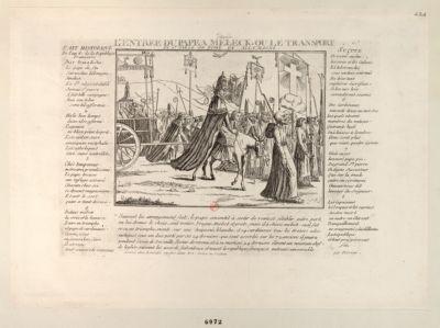L' Entrée du pape a Meleck, ou le transport du St Siège de Rome en Allemagne [estampe]