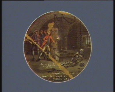 Le  Squelette [tr]ouvé dans le cachot de [la] Basstille 1789 du reigne de Louis XIV