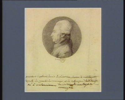 Pierre Elisabeth Denis de Barrau, baron de Montagut député du comté de Cominges et de [illisible] habitant né à Valenciennes au chateau de Montagut en Comingues : [dessin]
