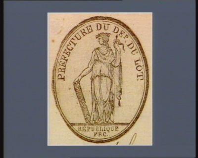 Préfecture du Dep. du Lot République frc. : [estampe]