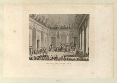 Audience du Directoire en costume le 30 brumaire an 4.eme de la République : [estampe]