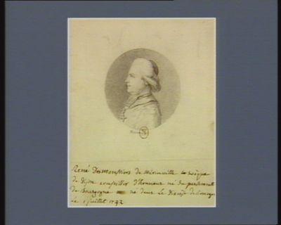 René Desmonstiers de Mérinville évèque de Dijon conseiller d'honneur du Parlement de Bourgogne né dans le diocèse de Limoges le 1 juillet 1742 : [dessin]