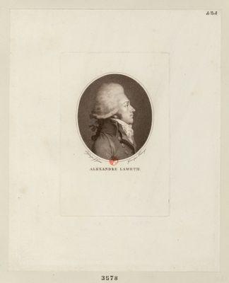 Alexandre Lameth député de Peronne <em>à</em> l'Assemblée nationale en 1789, elu president le 20 9.bre 1790 : [estampe]
