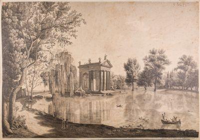 Villa Borghese, laghetto, tempio di Esculapio