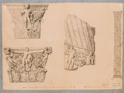 Tempio detto di Minerva Medica, particolari architettonici