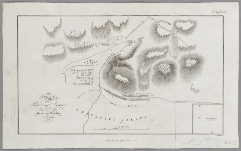 Plan of the Ruins of Axum with a Sketch of the Adjoining Country