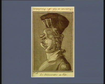 L' Aristocrate en con...tre révolution Le Démocrate en vits : [estampe]