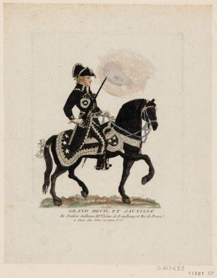 Grand deuil et jaunisse de Frédéric Guillaume III.e électeur de Brandbourg et roi de Prusse [estampe]