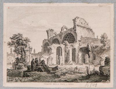 Basilica di Costantino, veduta generale dalla chiesa di Santa Maria Nuova