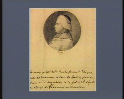 François Joseph de La Rochefoucauld, évèque-comte de Beauvais vidame de Gerbroy, pair de <em>France</em> né à Angoulême le 29 fev. 1736 député du clergé de Clermont-en-Beauvoisis : [dessin]