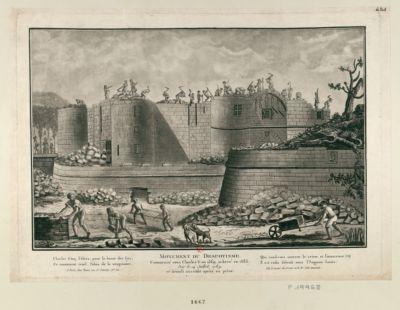 Monument du Despotisme commencé sous Charles <em>V</em> en 1369 achevé en 1383, pris le 14 juillet 1789 et démoli aussitôt après sa prise... : [estampe]