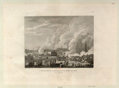 Publication <em>de</em> la loi martiale au <em>Champ</em> <em>de</em> <em>Mars</em> le <em>17</em> juillet <em>1791</em> : [estampe]