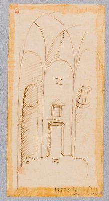 Palatino, interno di ambiente forse della Domus Severiana