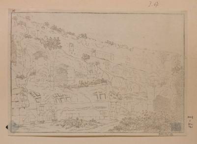 Colosseo, interno. Disegno preso al piano del 2° ordine di arcate