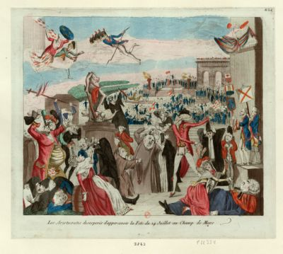 Les  Aristocrates desespérés d'appercevoir la fete du 14 juillet au Champ de Mars [estampe]