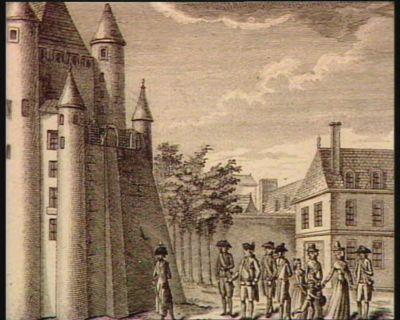 Louis XVI rentrant du Jardin à la Tour du Temple en 1792 [estampe]