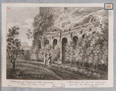 Foro Traiano, estremità settentrionale dell' emiciclo dei mercati di Traiano