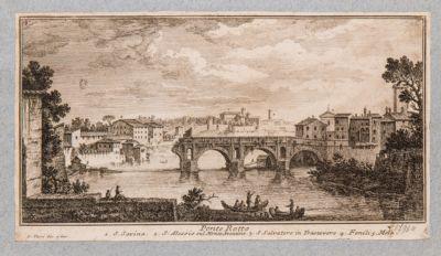 Ponte Rotto o Emilio, veduta dei resti