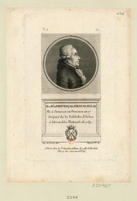 M le m.is de Provençal-Fonchateau ne à Tarascon en Provence en 17[..] député de la noblesse d'Arles à l'Assemblée nationale de 1789 : [estampe]