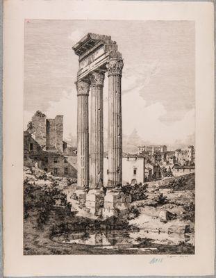 Tempio di Castore e Polluce, resti del Tempio nel Foro Romano