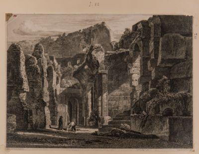 Colosseo, interno. Vista di arcate