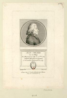 Jean Colson : curé de Nitting né à Manoncourt sur Seille le 24 8.bre 1734 député du bail.e de Sarguemines à l'Assemblée nationale de 1789 : [estampe]