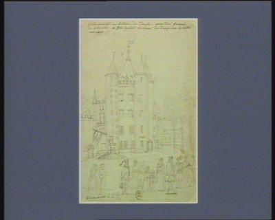 [Louis seize et sa famille arrivant au <em>Temple</em>] [dessin]