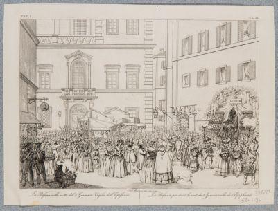 Piazza di S. Eustachio. Veduta della piazza in occasione della befana