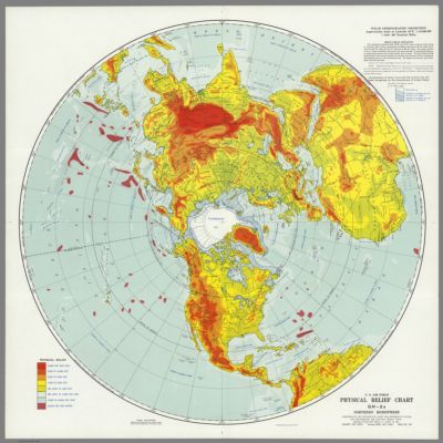 Physical Relief Chart GH 2a, Northern Hemisphere [1957] Online