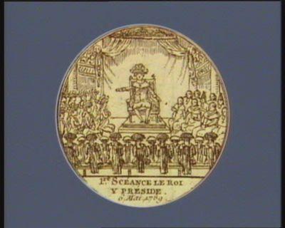 1.re scéance le roi <em>y</em> préside 6 mai 1789 : [estampe]