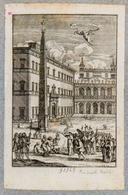 Piazza di S. Giovanni in Laterano avanti alla facciata minore