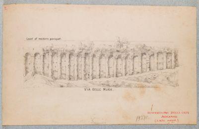 Via delle Mura, sostruzioni degli Orti Aciliani