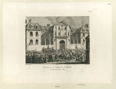 Pillage de la maison de St Lazare le lundi 13 juillet 1789 : [estampe]