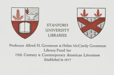Professor Alfred H. Grommon and Helen McCurdy Grommon Library Fund for 19th Century and Contemporary American Literature