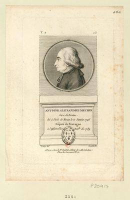 Antoine Alexandre Mechin curé de Brains. Né à l'Isle de Bouin le 13 janvier 1746 député de Bretagne à l'Assemblée nat.le de 1789 : [estampe]