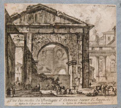 Vue des restes du Portique d'Octavie