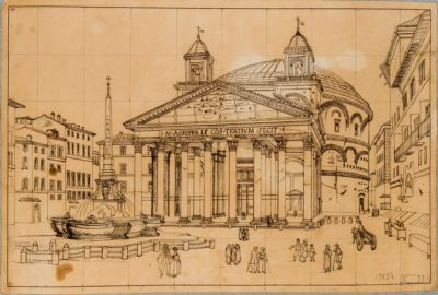 Pantheon, facciata