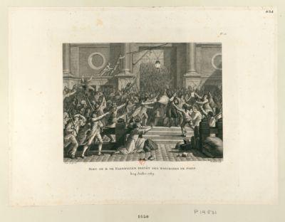 Mort de M. de Flesselles, prévôt des marchands de Paris le 14 juillet 1789 : [estampe]