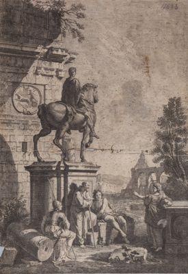 Campidoglio. Statua equestre di Marco Aurelio