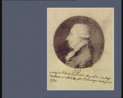 Louis Jean Pelerin La Buxière député du baillage d'Orléans né <em>à</em> Torbek isle St Domingue le 13 fevrier 1731 : [dessin]